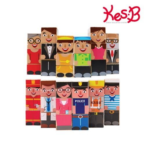 Cs (캐스B)튼튼 빌딩블럭2종세트(1719set)→(가족빌딩+직업빌딩블럭1개씩)