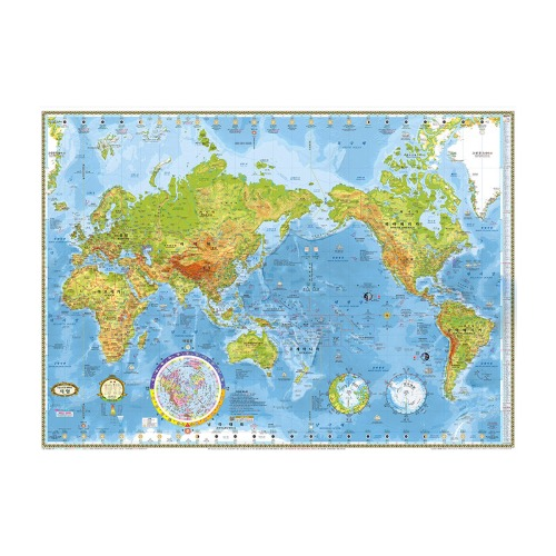 Cs 맵소프트 지형 세계지도-소형 양면코팅형(110-TL)