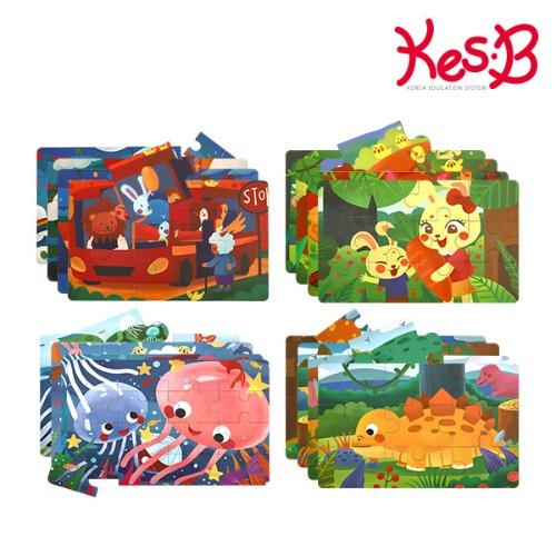 Cs (캐스B)튼튼 4스텝직소퍼즐4종(2182set)