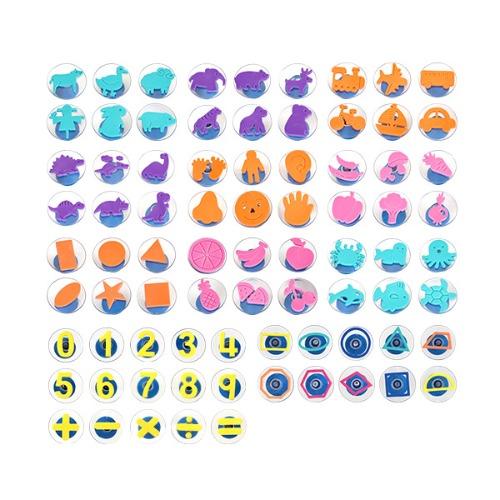 Cs (음률미술) 팡팡스탬프풀세트11종(2180set)→(농장+정글+공룡+해양+과일+야채+교통+모양+신체+숫자+모양라인)
